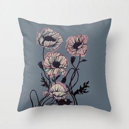 Pastell Gothic Poppy Throw Pillow