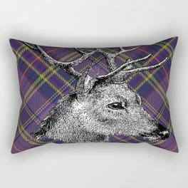 Tartan Deer Rectangular Pillow