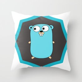 Golang Go cute Squirrel baby programming Mouse sticker Throw Pillow
