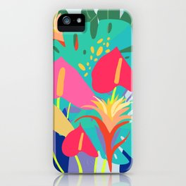 Hothouse Florals, tropical art, Poster. iPhone Case