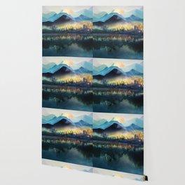 Mountain Lake Under Sunrise Wallpaper