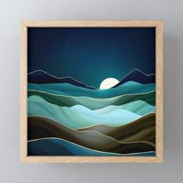 Moonlit Vista Framed Mini Art Print
