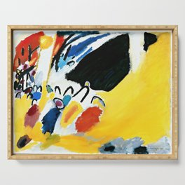 Kandinsky Impression III (Concert) 1911 Artwork Reproduction, Design for Posters, Prints, Tshirts, Men, Women, Kids, Youth Serving Tray