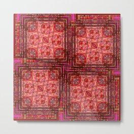 no. 197 orange pink pattern Metal Print