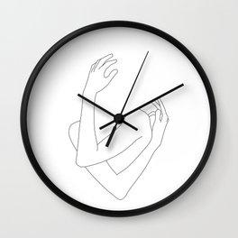 Crossed arms illustration - Jill Wall Clock