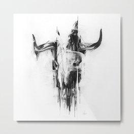 Bull Skull Metal Print