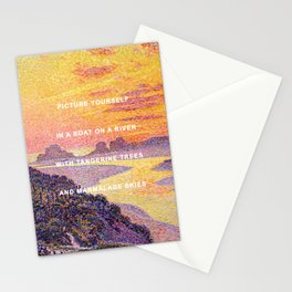 Sunset in the Sky with Diamonds Stationery Cards