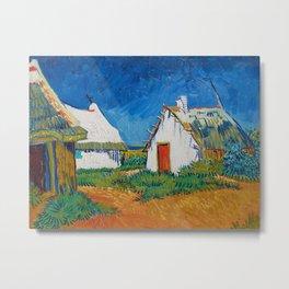 Three white cottages in Saintes-Maries by Vincent van Gogh Metal Print
