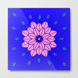 Flower power 1 Klein Blue Metal Print
