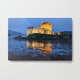 Eilean Donan Castle Scotland At Night Scottish Highlands Metal Print