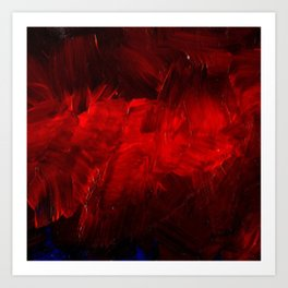 Red And Black Luxury Abstract Gothic Glam Chic by Corbin Henry Art Print