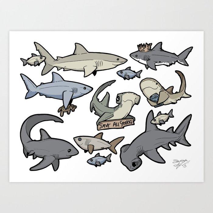 Save ALL Sharks! Kunstdrucke