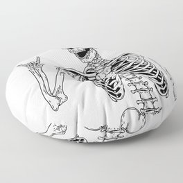 Rock and Roll Skeleton Floor Pillow