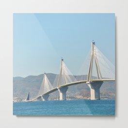 Rio Antirrio Bridge Metal Print