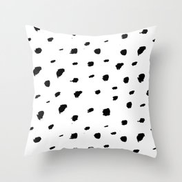Ink Spots // Black-and-white abstract Throw Pillow