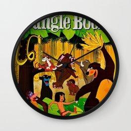 1961 Jungle Book Original US Film Movie Poster Wall Clock