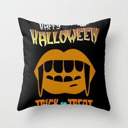 Vampire Happy Halloween Bat Horror Throw Pillow