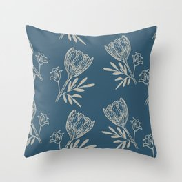 Soft floral Throw Pillow