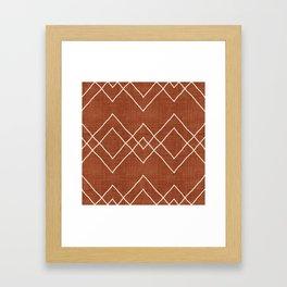 Nudo in Rust Framed Art Print