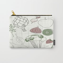 Green Fruits&Vegetables Carry-All Pouch