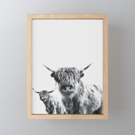 HIGHLAND COW - LULU & SARA Framed Mini Art Print