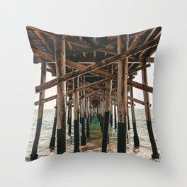 Balboa Pier Print {1 of 3} | Newport Beach Ocean Photography Teal Summer Sun Wave Art Throw Pillow