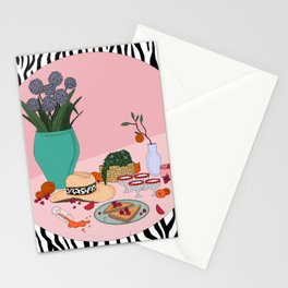 Still life with cowboy hat Stationery Cards
