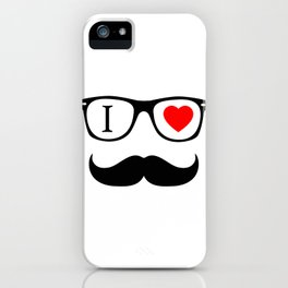 I Love Hipster iPhone Case