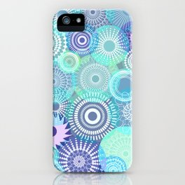 Kooky kaleidoscope Purples and Teal iPhone Case