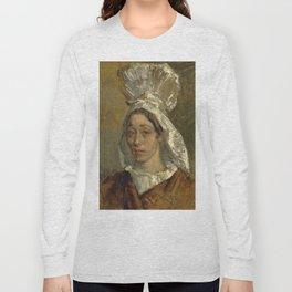 "Jean-François Millet ""Portrait of a Woman, probably the Artist's Sister"" Long Sleeve T-shirt"