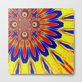 The Modern Flower Primary Colors Metal Print