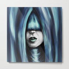 Hidden Blue colored Metal Print
