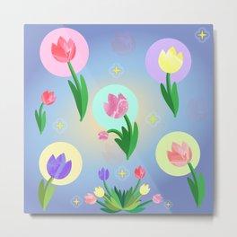 Tulips, Bouquet floral design Metal Print
