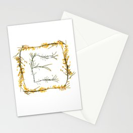 "Seaweed Alphabet ""E"" Stationery Cards"