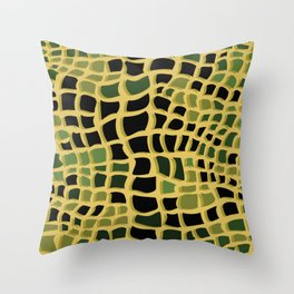 Snake print Throw Pillow