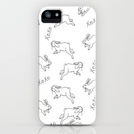 Hoping bunnies iPhone Case