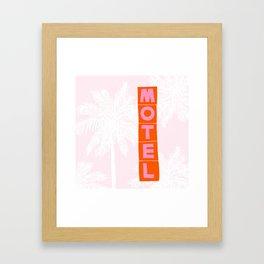 seaside motel Framed Art Print