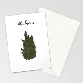 Life is short: vita brevis Stationery Cards