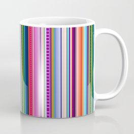 Mexican Serape Inspired Colorful Stripe Summer Fabric Coffee Mug