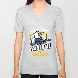Stock Classic Paintball Player Eagle Paintball Gift Unisex V-Neck