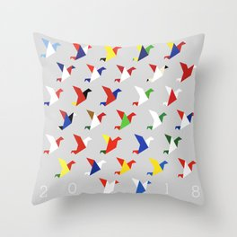 FIFA 2018 Inspired Paper Cranes Throw Pillow