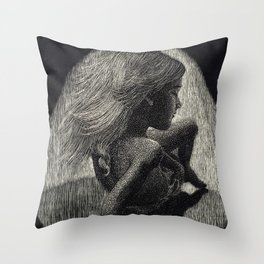 Girl Reborn Throw Pillow