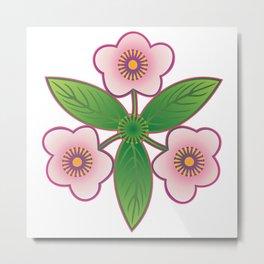 Triple pink Metal Print