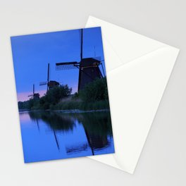 Blue Evening Near The Windmils Stationery Cards