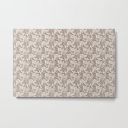 Abstract Geometrical Triangle Patterns 2 Benjamin Moore 2019 Trending Color Head Over Heels Pastel P Metal Print