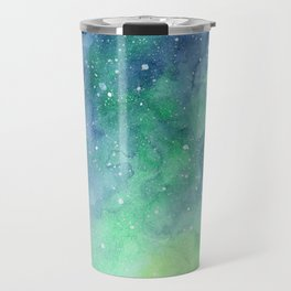 Northern Lights Sky Galaxy Travel Mug