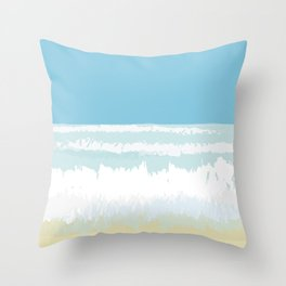 Heavy seas from south Throw Pillow