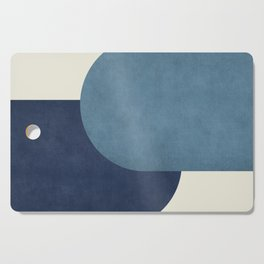 Halfmoon Colorblock - Blue Cutting Board