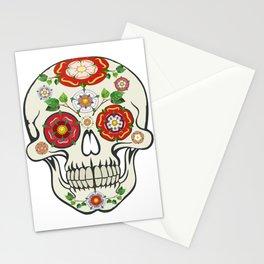 Lancashire Rose Sugar Skull Stationery Cards