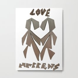 Love Happens Metal Print